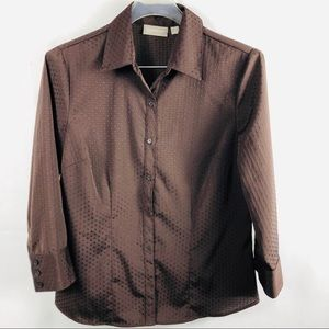 Croft & barrow stretch blouse medium Cmeasurements